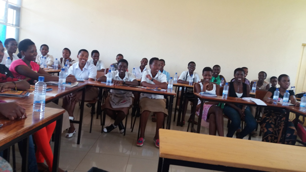Training of Adolescent girls Peer educators in school  at Centre Pastoral Saint Paul, Kigali